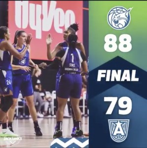Lynx rebounds their win over Dream.