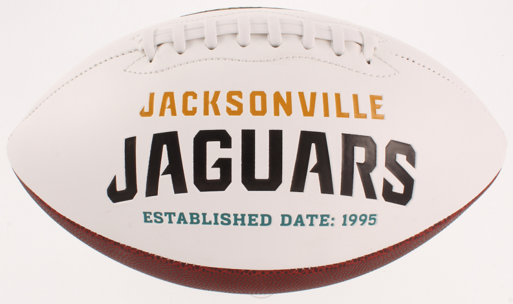 Mark Brunell Signed Jaguars Logo Football (JSA COA)