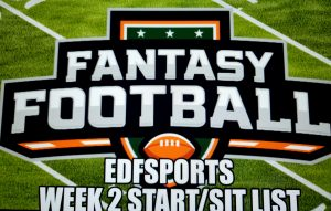 Fantasy football: Week 2 Start/Sit List.